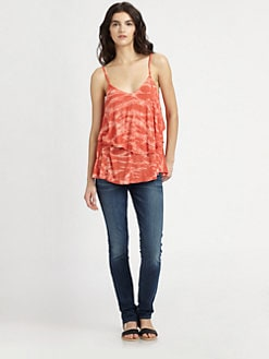 Rachel Pally - Ruffled Tie-Dye Top