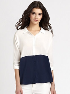 Splendid - Dolman Colorblock Blouse