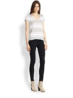 Splendid - Striped Hi-Lo Tee