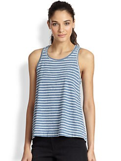 Splendid - Striped Cotton Racerback Tank