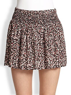 Splendid - Smocked Floral-Print Skirt