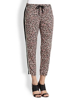 Splendid - Striped-Side Floral-Print Track Pants