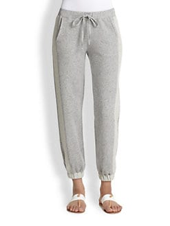 Splendid - Contrast-Trimmed Cotton French Terry Sweatpants