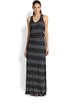 Splendid - Striped Jersey Maxi Dress
