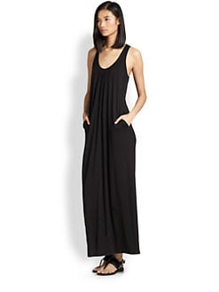 Splendid - Stretch Jersey Crossover-Back Maxi Dress