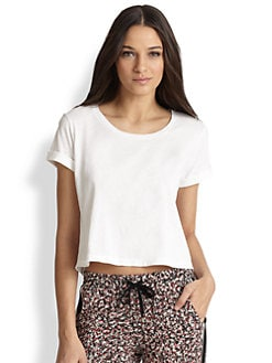 Splendid - Vintage Whisper Cropped Cotton Tee