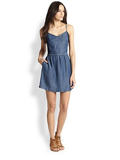 Splendid - Jersey-Paneled Denim Dress