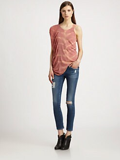 Raquel Allegra - Tie-Dyed Asymmetrical Top