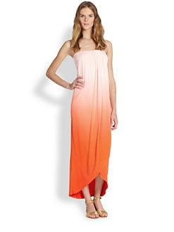 Young Fabulous & Broke - Brooklyn Ombre Strapless Maxi Dress