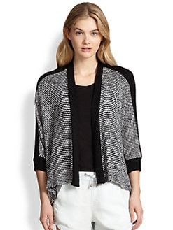 Splendid - Draped Two-Tone Cardigan