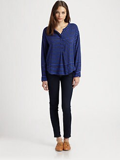 Splendid - Striped Shirting Top