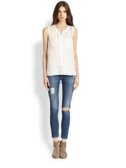 Soft Joie - Brant Semi-Sheer Top