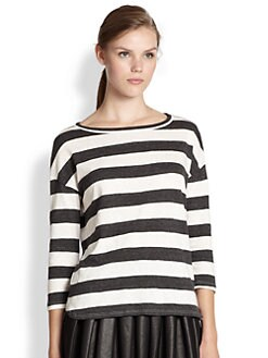 Soft Joie - Nash Striped Dolman-Sleeved Jersey Top