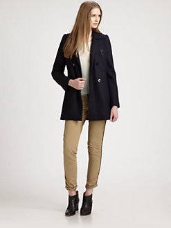 Maison Scotch - Double-Breasted Wool Coat