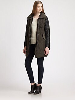 Maison Scotch - Leather-Trimmed Tech Parka