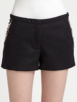 Maison Scotch - Beeded Wool Shorts
