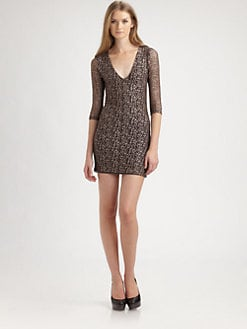 Nightcap Clothing - Cheetah Lace Dress