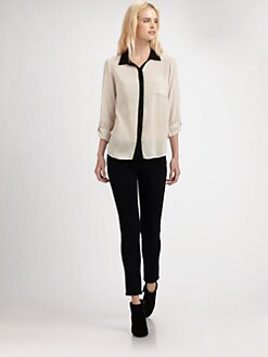 Splendid - Contrast Collar Shirt