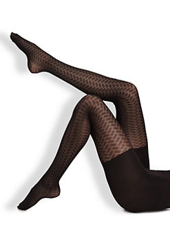 Spanx - Peak-A-Boo Patterned Tight End Sheer Tights