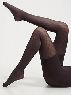 Spanx - Diamond-Pattern Control Top Tights