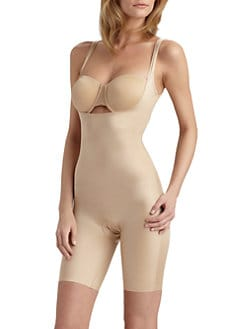 Spanx - Simplicity Open-Bust Mid-Thigh Bodysuit