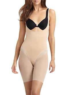 Spanx - Haute Contour Open Bust Mid-Thigh Bodysuit