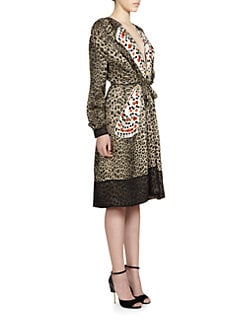 Givenchy - Silk Leopard & Butterfly Dress