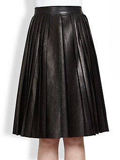 Givenchy - Pleated Leather Skirt