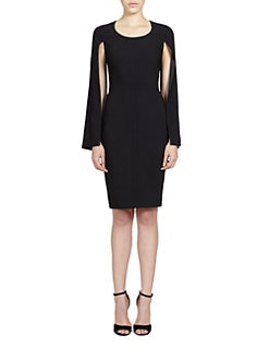 Givenchy - Split-Sleeve Cady Dress