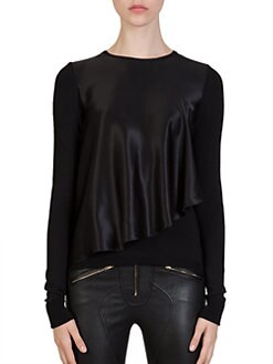 Givenchy - Silk Capelet Top