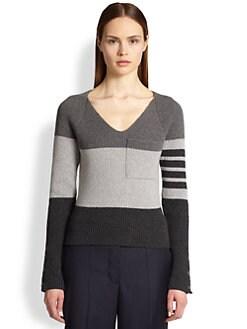 Thom Browne - Mixed-Stripe Cashmere Sweater