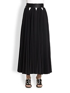 Givenchy - Pleated Wool Maxi Skirt