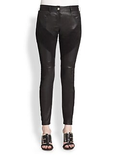 Givenchy - Leather & Suede Leggings