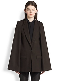 Givenchy - Felted Wool Cape Coat