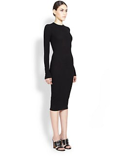 Givenchy - Patent-Zipper Accent Dress