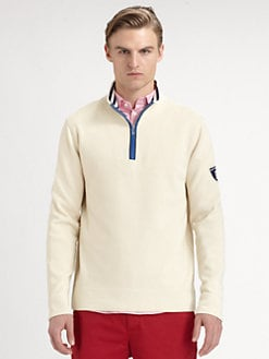 Faconnable - Cotton Zip-Front Sweater