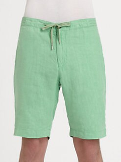Faconnable - Linen Bermuda Shorts