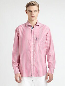 Faconnable - Striped Cotton Sportshirt