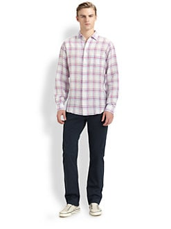 Faconnable - Plaid Linen-Blend Sportshirt
