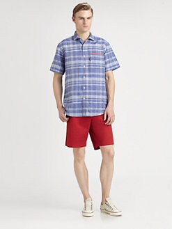 Faconnable - Plaid Linen Sportshirt