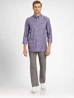 Faconnable - Checked Cotton Twill Sportshirt