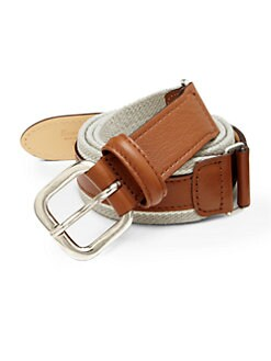 Faconnable - Woven Stretch Leather Belt