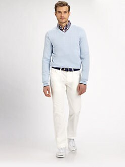 Faconnable - Jersey V-Neck Sweater