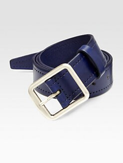 Faconnable - Perforated Leather Belt