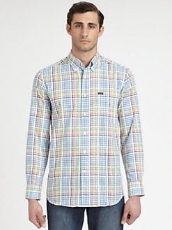 Faconnable - Printed Cotton Sportshirt