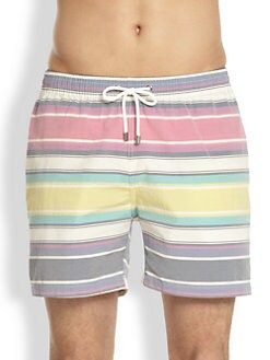 Faconnable - Striped Swim Trunks