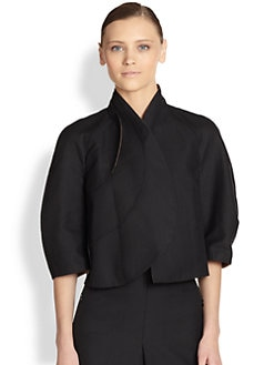 Akris - Asymmetrical Bi-Color Jacket