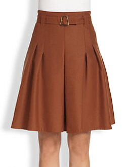 Akris - Belted Pleated Skirt