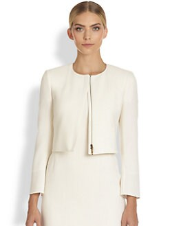 Akris - Leo Cropped Wool Jacket