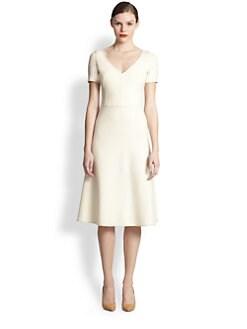 Akris - Belted A-Line Dress